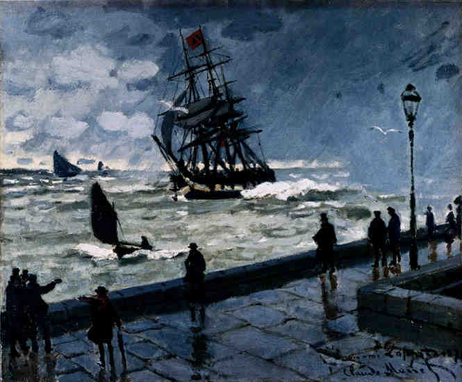 The Jetty at Le Havre, Bad Weather