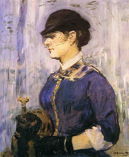 Young woman in a round hat